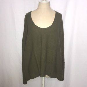 Madewell | NWOT Green Scoop Neck Sweater (Size:3X)